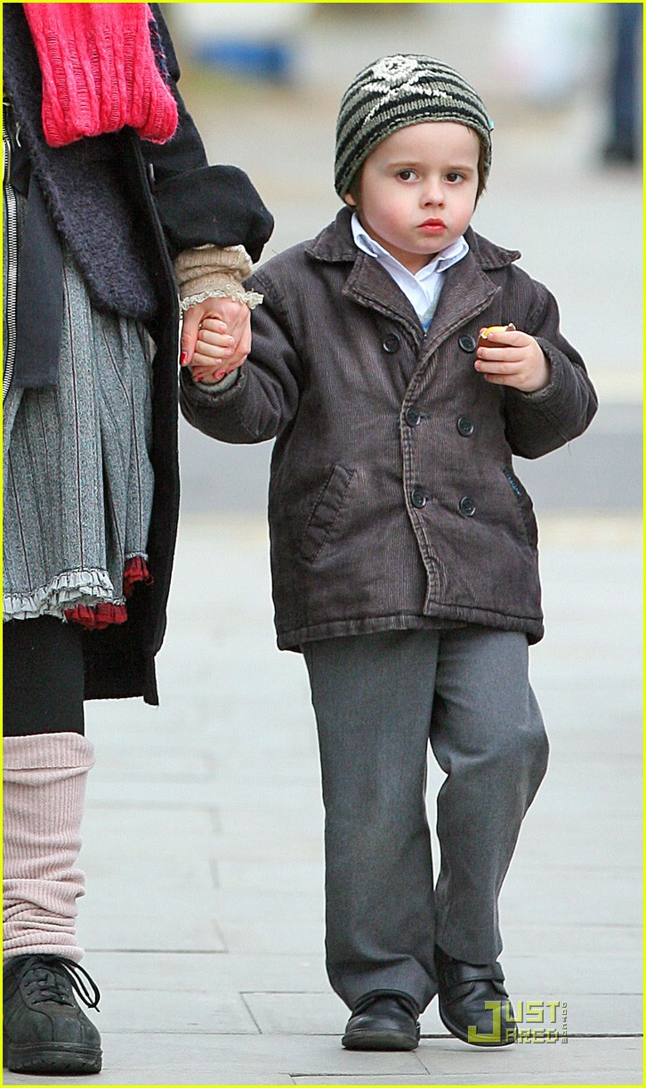 Photo of Helena Bonham Carter & her Son  Billy Raymond Burton
