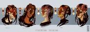 Female aliens headcshot by zarnala-d45wssu