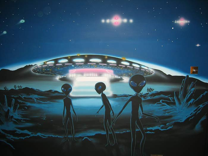Image result for aliens and mother ship image