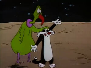 Instant Martian and Sylvester the Cat