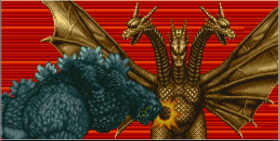 Godzilla fights King Ghidorah