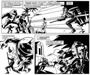 Kroton engages the Sontarans.
