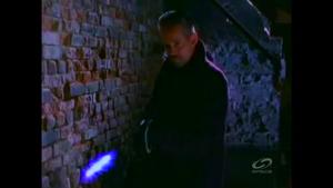 Hague shoots Cole with the Liquid Nitrogen Gun.