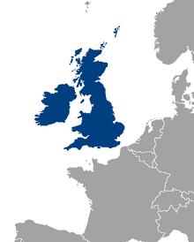 Locatie van het Verenigd Koninkrijk