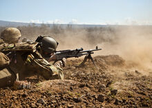 Machine gun team from 1 RAR during RIMPAC 2012