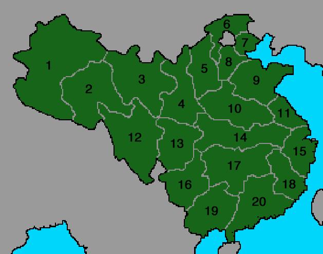 Chinese Provinces VINW