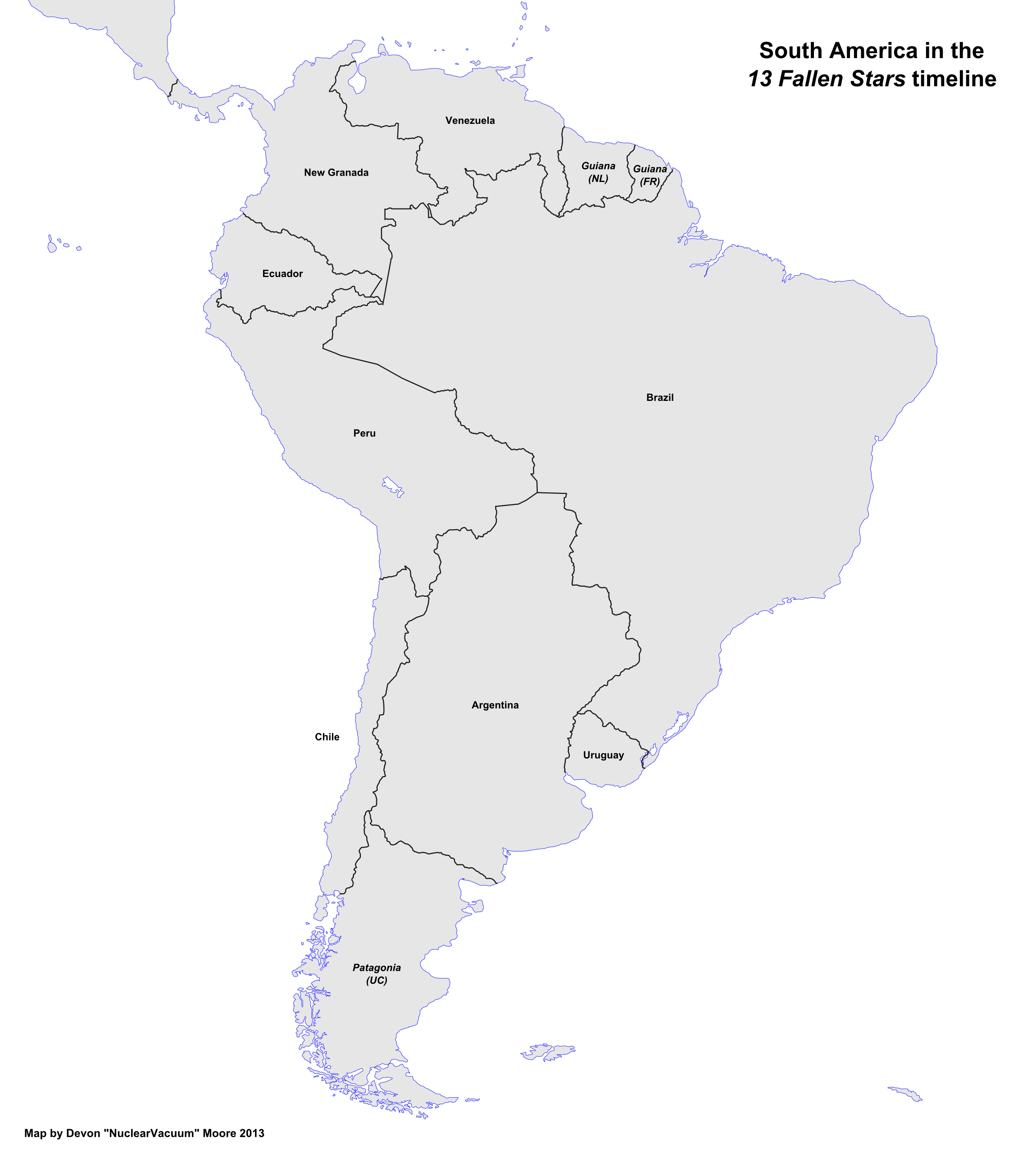 free map of south america