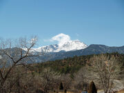 Pikes Peak from the Garden of the Gods by David Shankbone