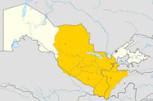 Emirate of Bukhara map
