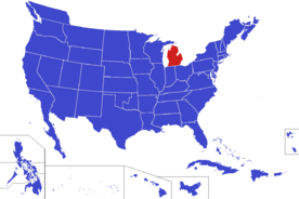 United States map - Michigan (Alternity)