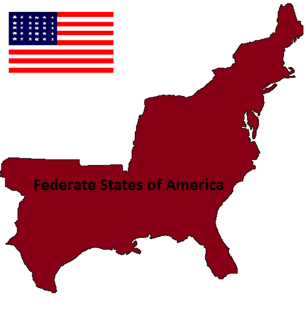 Federate States of America Map