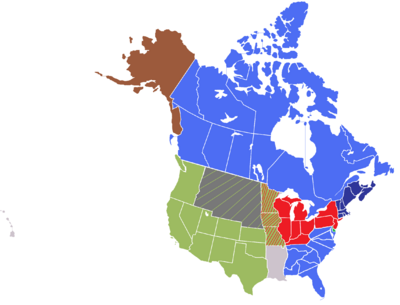 Map of North America (UES)