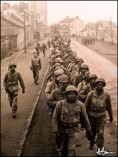 Black soldiers marching