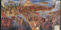 Battle at the gates of Tenochtitlan (Aztec Empire)