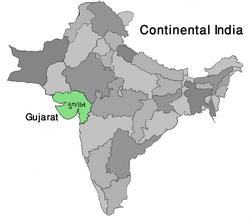 Map India Gujarat (VegWorld)