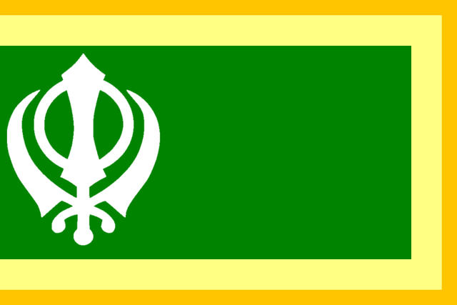 File:Flag of Himachal Pradesh (Raj Karega Khalsa).png