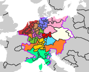 Holy Roman Empire Circles in 1517