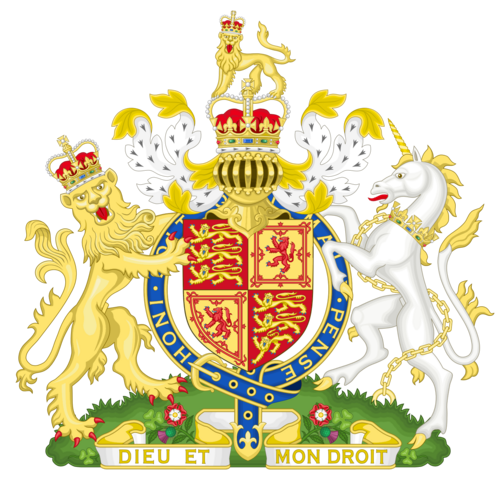 File:Royal Coat of Arms of the United Kingdom of England and Scotland.png