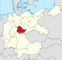 Locator map Thuringia in Germany (IM)