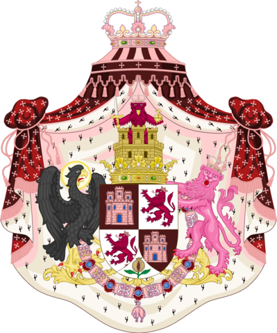 File:Greater Coat of Arms of the Empire of Castile by eric4e.png