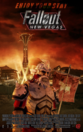 Legion at New Vegas entrance Fallout Movie Poster by CassAnaya