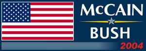 President McCain-Bush Ticket 2004 Logo