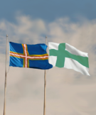 Denmark-Sweden and Vinland flags thin