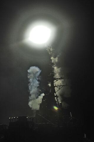 File:USS Barry Tomahawk launch Operation Odyssey Dawn.jpg
