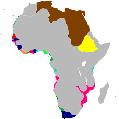 Scramble for Africa Map1837