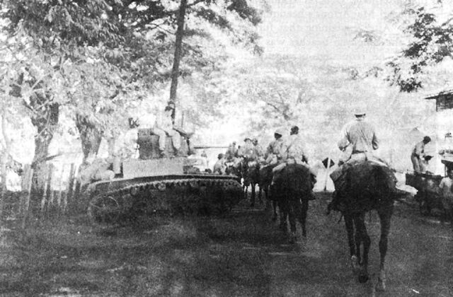 File:26th Cavalry PI Scouts moving into Pozorrubio.jpg