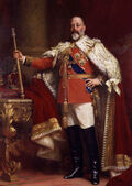 Edward VII in coronation robes