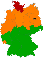 Location of the Nordic republic of Germany