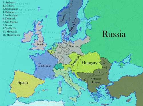 Europe in 1852 (¡Viva la Pepa!)