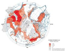 Undiscovered gas reserviors in the union of arctica