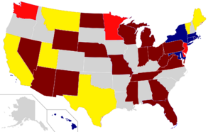 2012 Senate election map