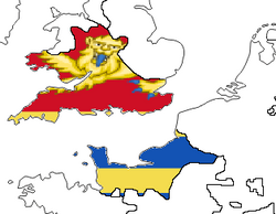 Wessex w. Flag (the Kalmar Union)