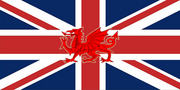 Wales on British Flag