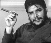 Che Guevara with cigar