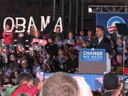 Obama campaign rally 2008 Cleveland, Ohio