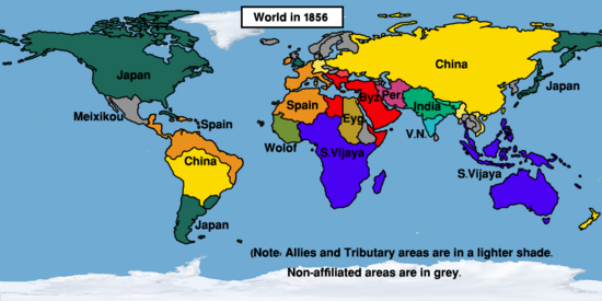 Map World 1856 (Easternized World)