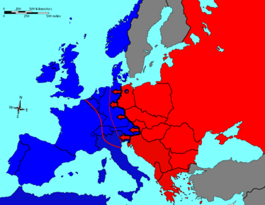 Iron Curtain as described by Churchill