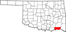 File-Map of Oklahoma highlighting Choctaw County