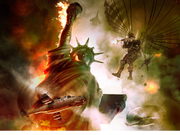 Artist Rendition of Battle of New York