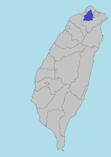 Location of Taipei, Taiwan Prefecture (SM 3rd Power)