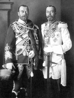 Tsar Nicholas II & King George V