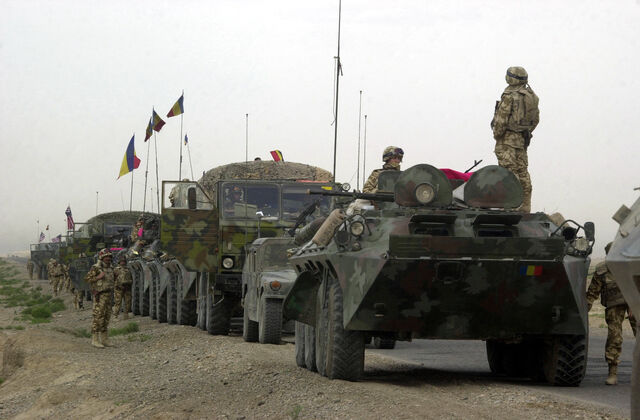 File:Romanian military convoy in Afghanistan.jpeg