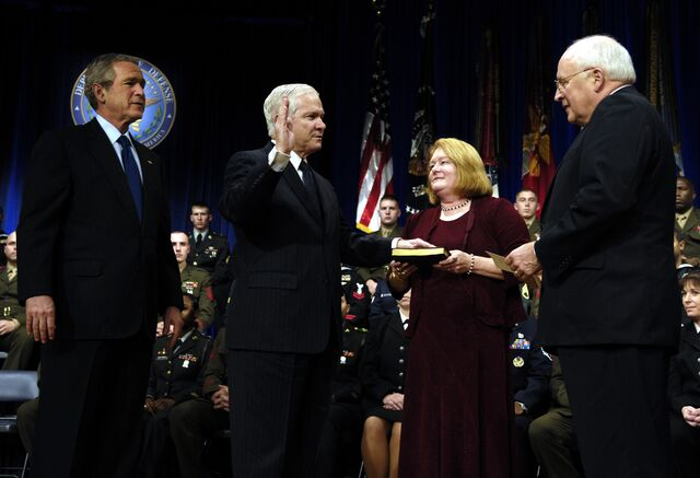 File:Robert Gates sworn in as Secretary of Defense 2006.jpg
