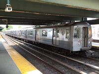 Northbound R68A B train at Kings Hwy