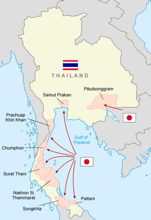 Japanese Invasion of Thailand 8 Dec 1941