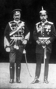 Bundesarchiv Bild 183-R43302, Kaiser Wilhelm II und Zar Nikolaus II